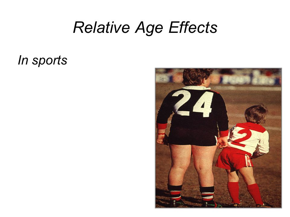 Relative Age Effects In sports