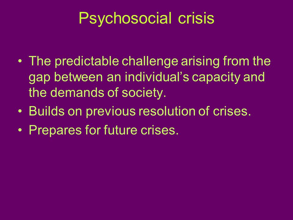 Central process The dominant context/mechanism for resolution of the crisis.