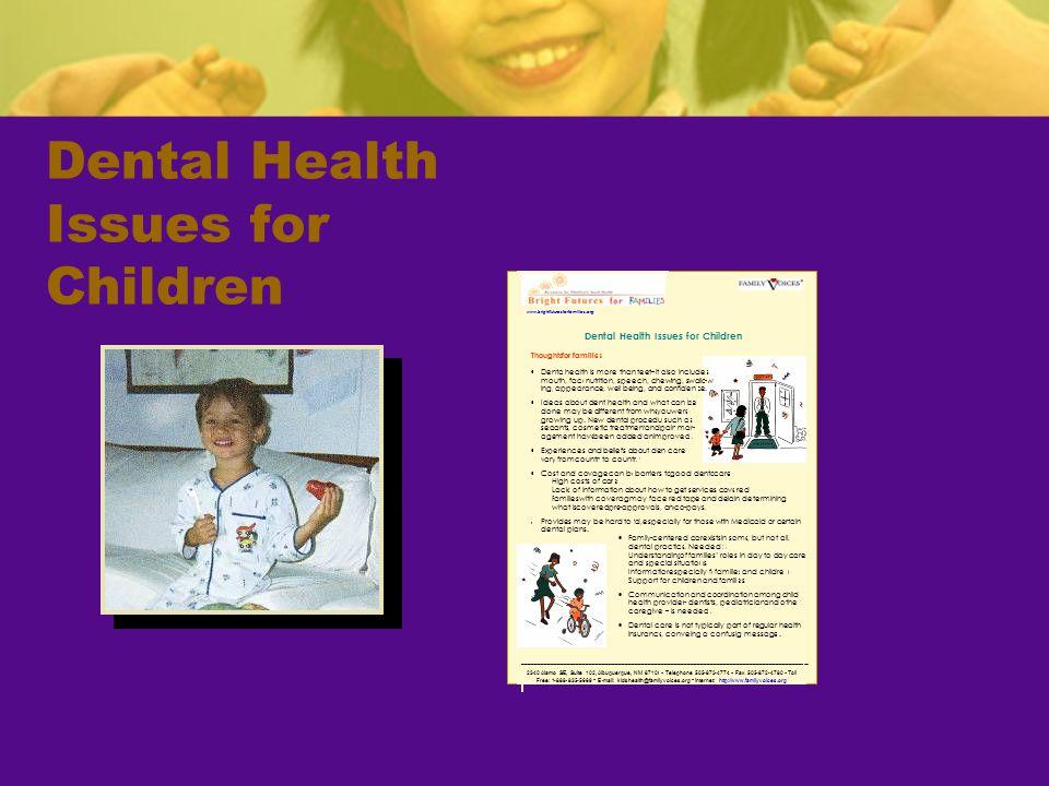 Dental Health Issues for Children