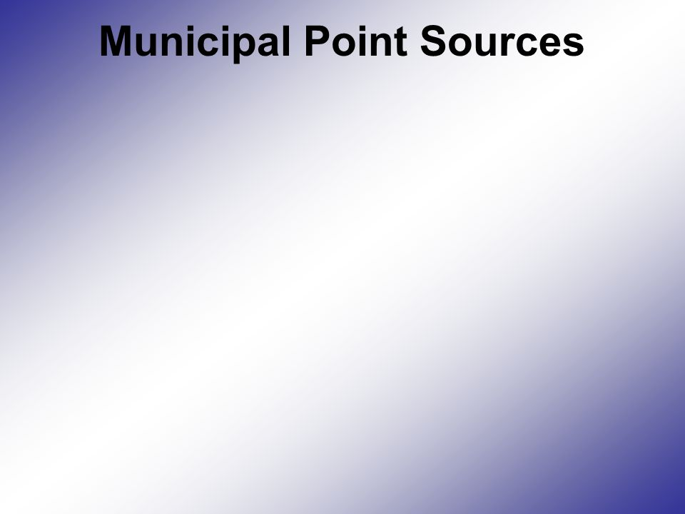 Municipal Point Sources