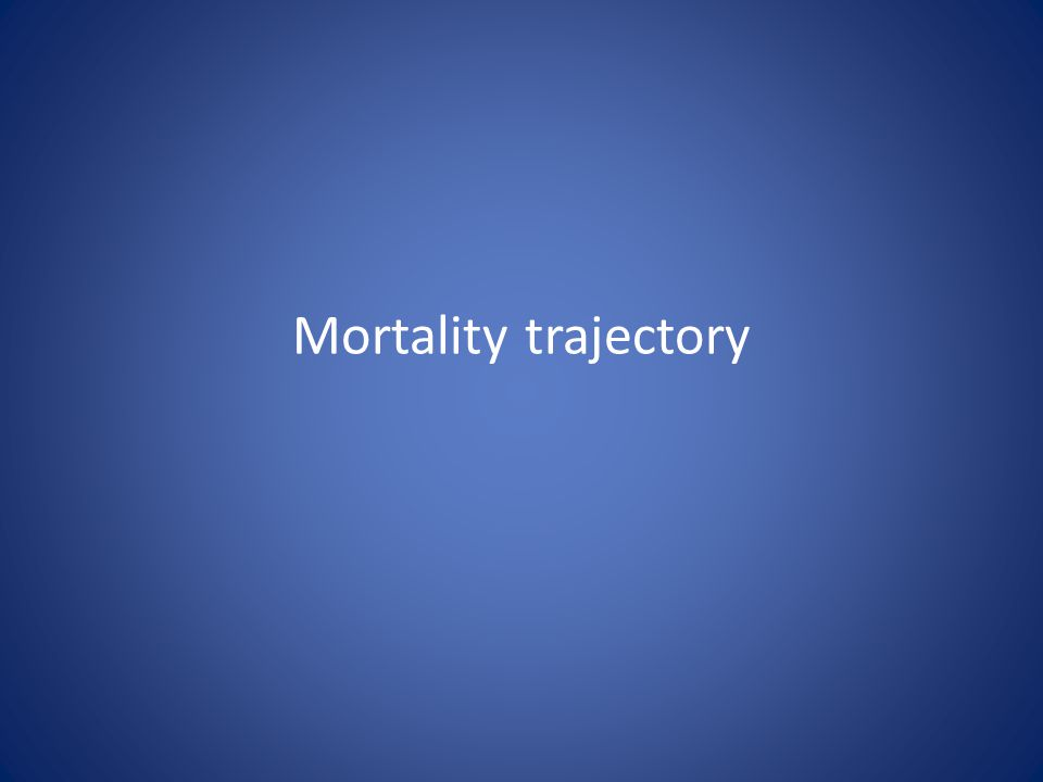 Mortality trajectory
