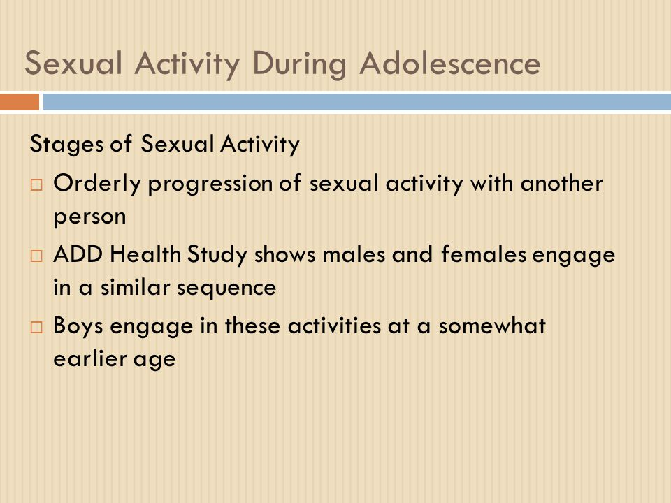 Sex Education  Effective sex education can reduce adolescents' likelihood of having unsafe sex, but it does not reduce their likelihood of having sex  Abstinence-only sex education programs are entirely unsuccessful  Comprehensive sex education is needed