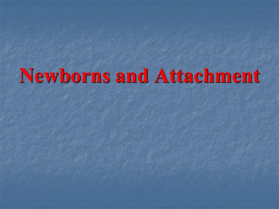 Newborns and Attachment