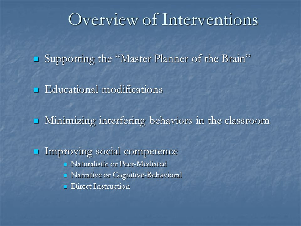 Implications for Intervention For School-aged children