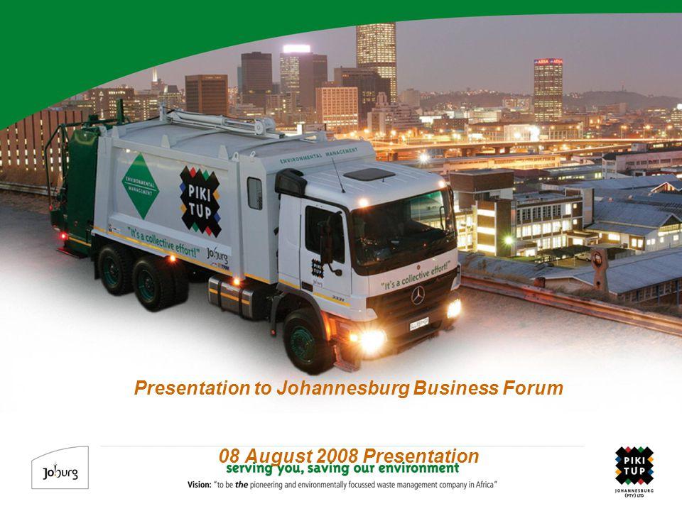 Presentation to Johannesburg Business Forum 08 August 2008 Presentation