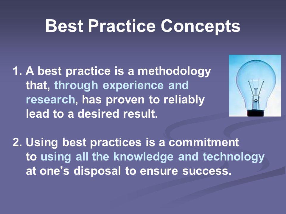 Best Practice Concepts 1.