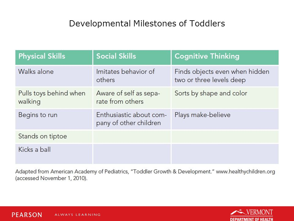 Developmental Milestones of Toddlers
