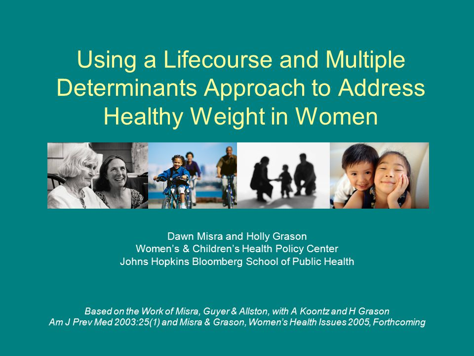 Misra and Grason, WCHPC 2005 Obesity and Overweight for Women: Health Effects Obese women at increased risk for maternal morbidity and mortality.