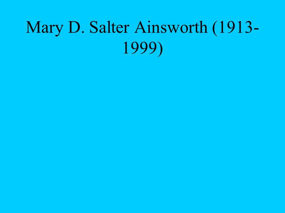 Mary D. Salter Ainsworth (1913- 1999)