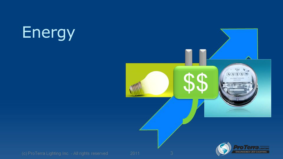 Energy $$ 2011 (c) ProTerra Lighting Inc. - All rights reserved 3