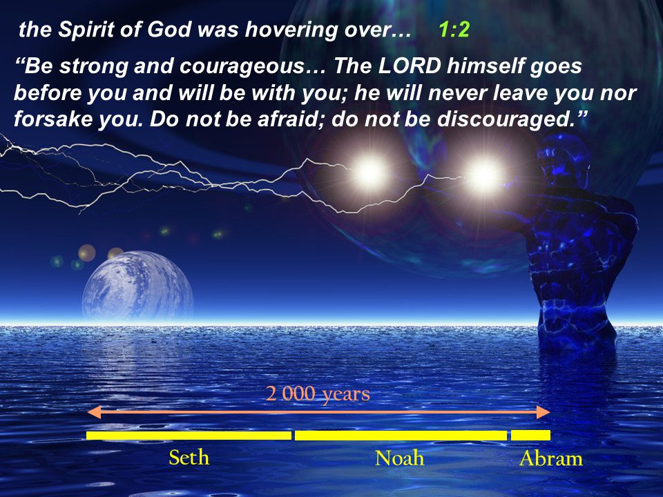 Be strong and courageous… The LORD himself goes before you and will be with you; he will never leave you nor forsake you.