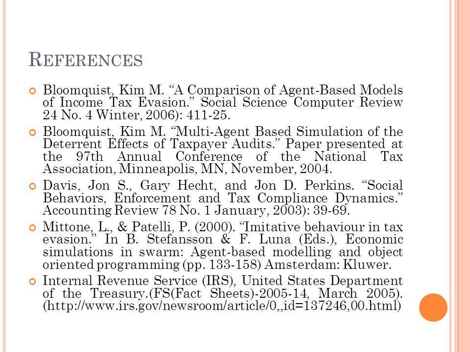 R EFERENCES Bloomquist, Kim M.