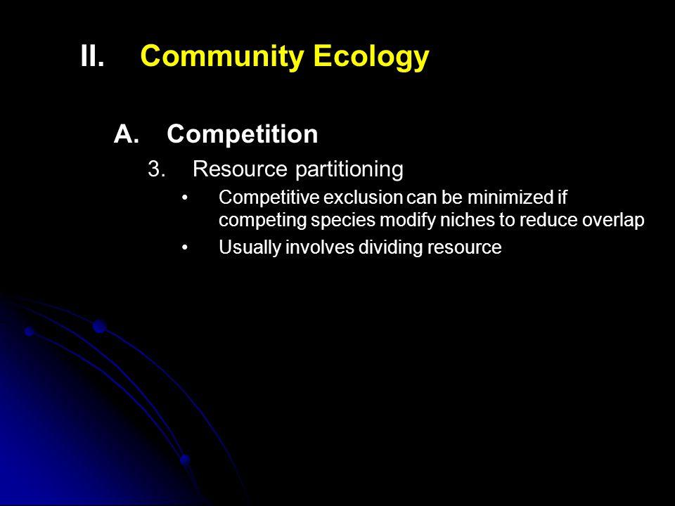 II.II.Community Ecology A. A.Competition 3.