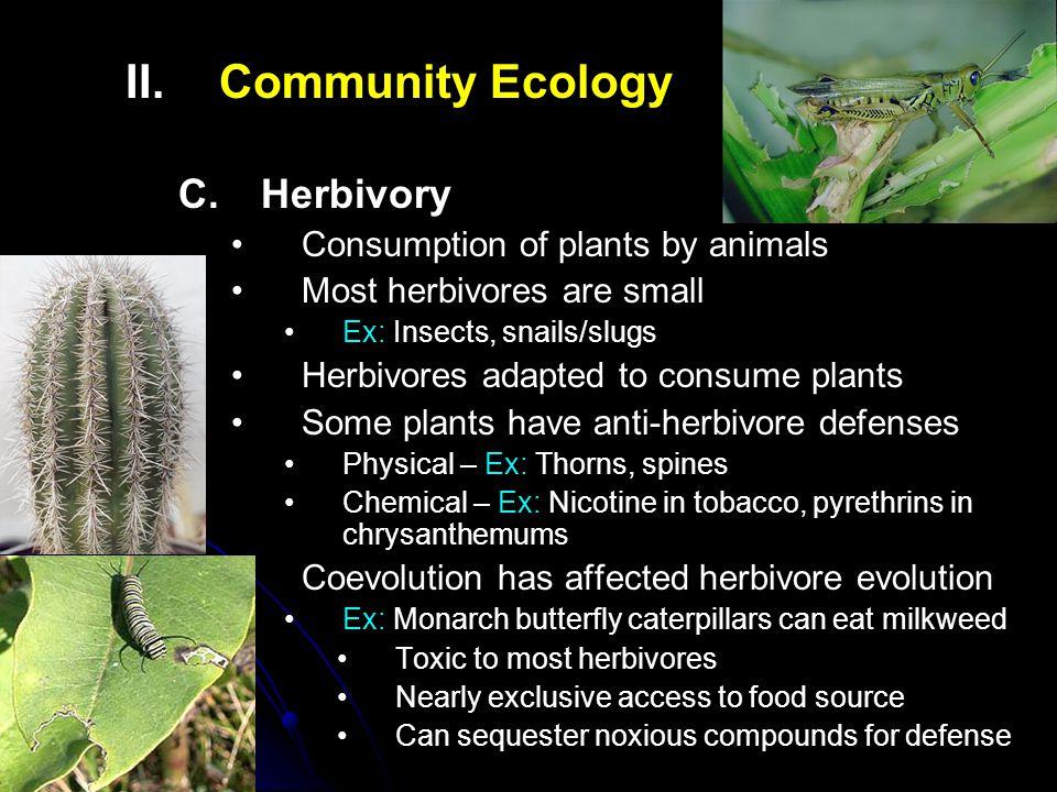 II.II.Community Ecology C.