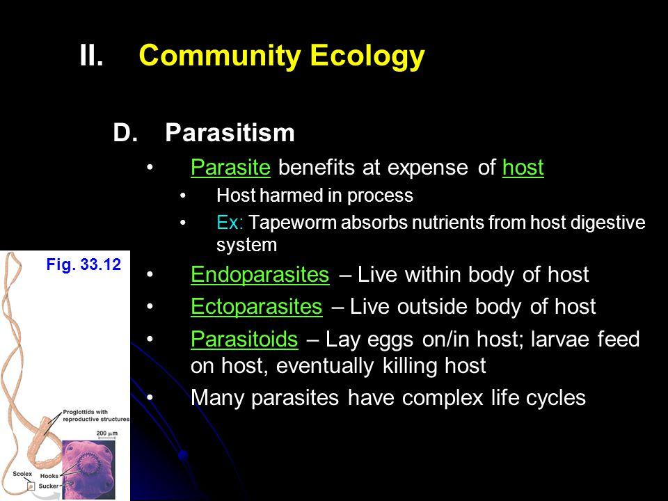 II.II.Community Ecology D.