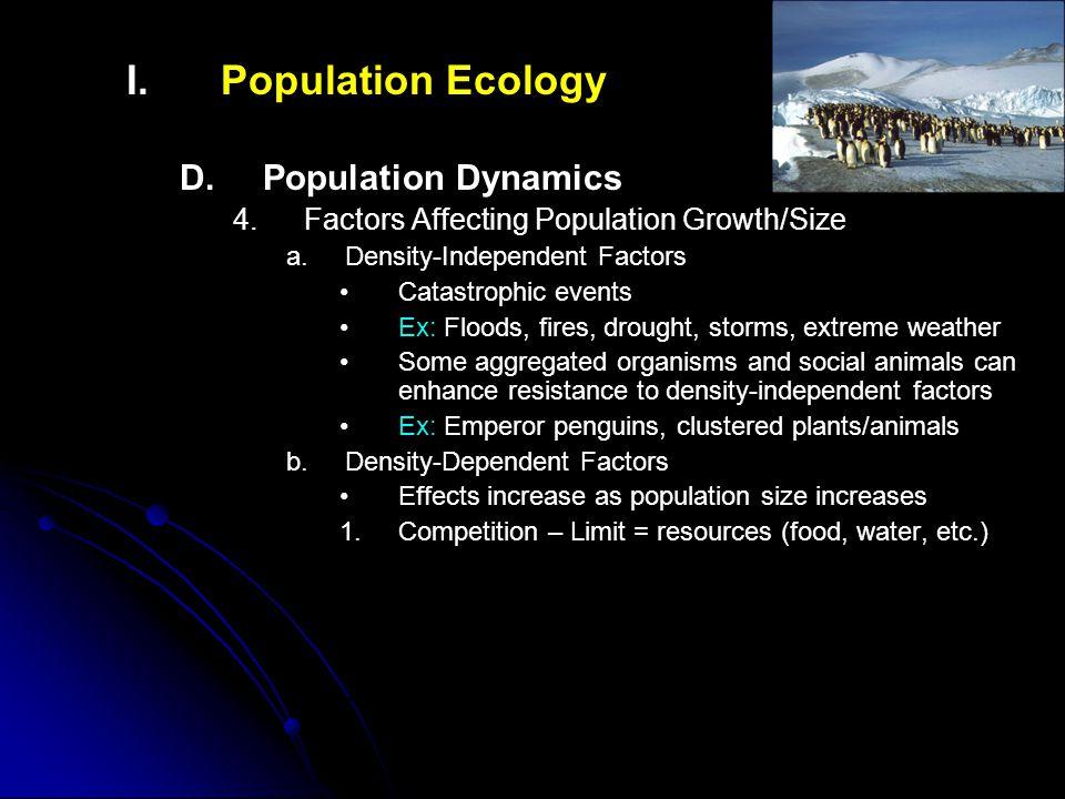 I.I.Population Ecology D. D.Population Dynamics 4.