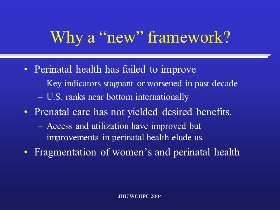 JHU WCHPC 2004 Why a new framework.