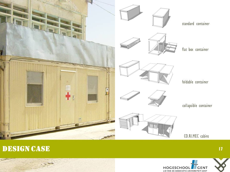 standard container flat box container foldable container collapsible container CO.RI.MEC cabins 17 Design case