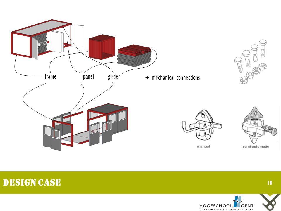 18 Design CASE girderpanelframe + mechanical connections