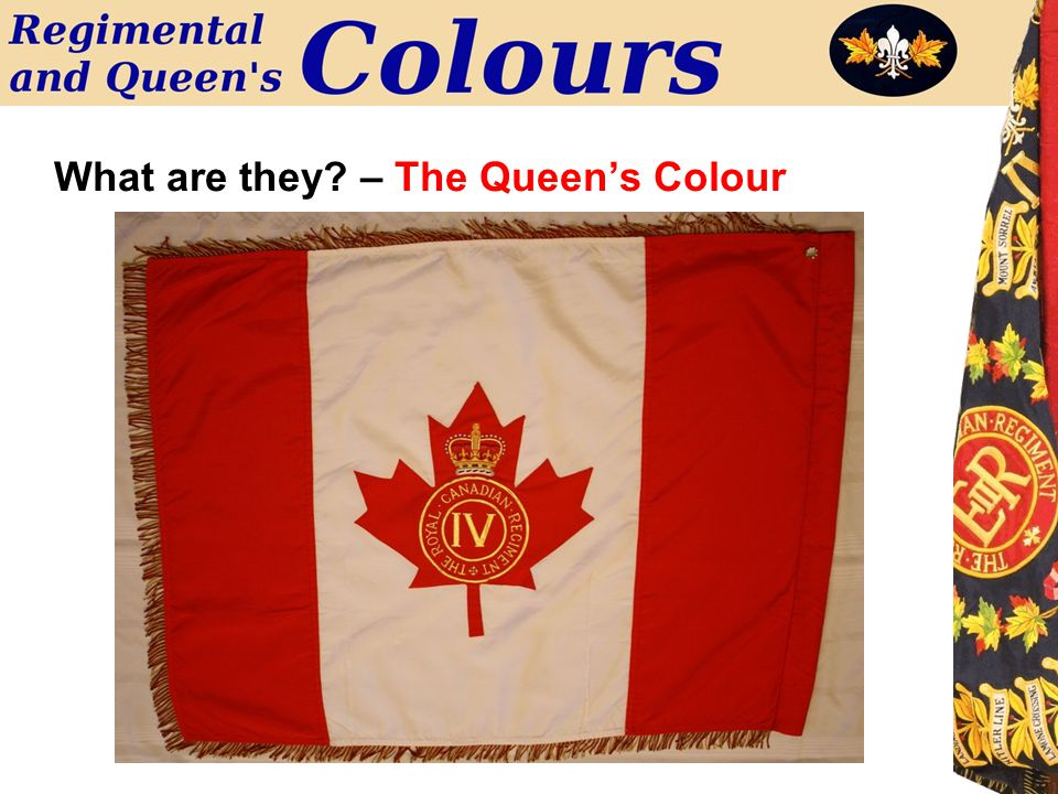 What are they? – The Queen's Colour