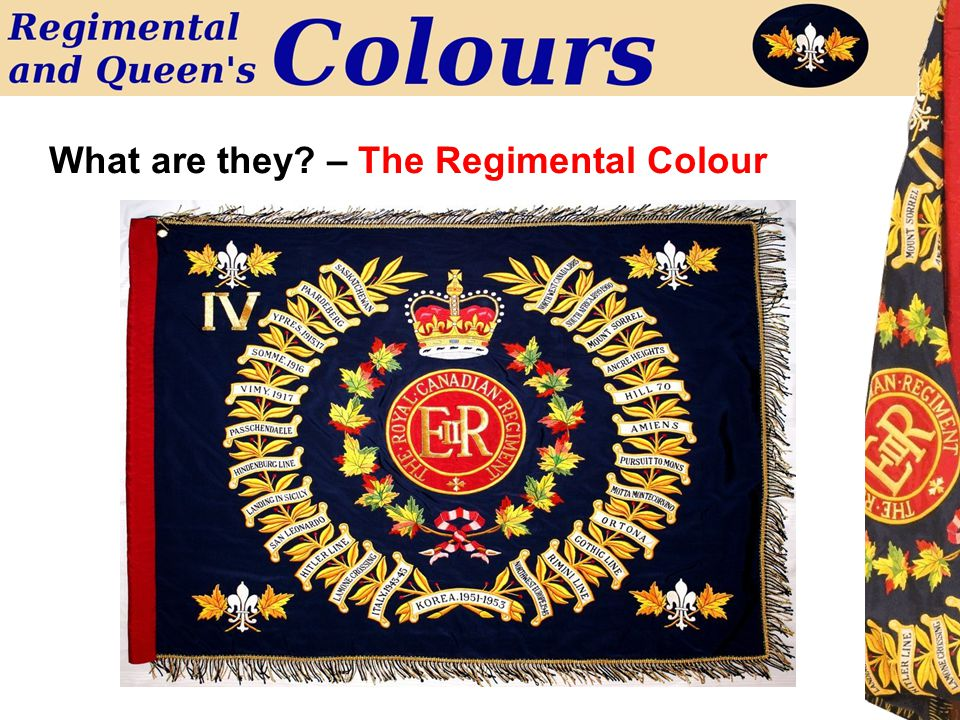 What are they? – The Regimental Colour