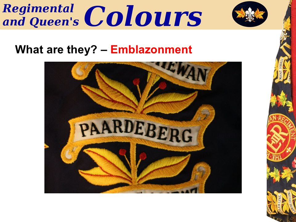 What are they? – Emblazonment