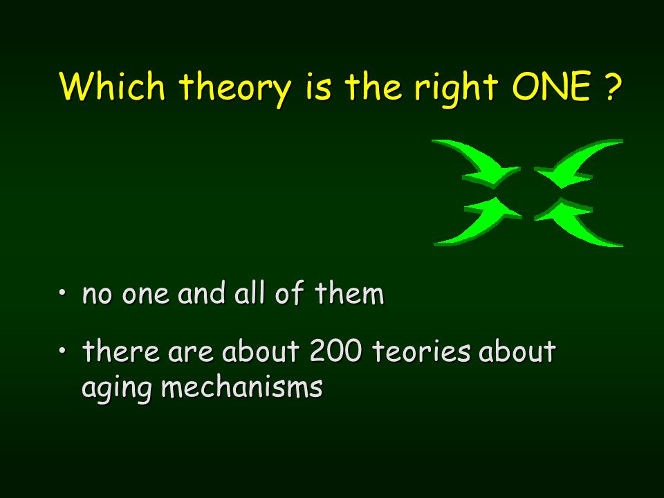 Which theory is the right ONE .