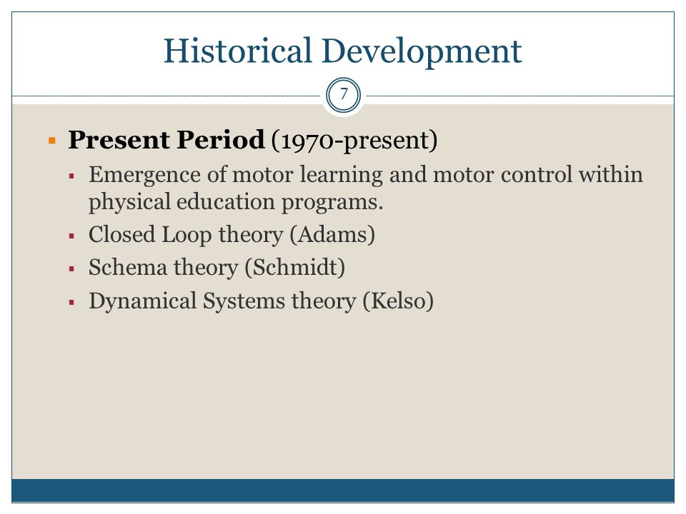 18 Historical Development  Maturational Period (1928-1946)  Research on the underlying biological processes guiding maturation.