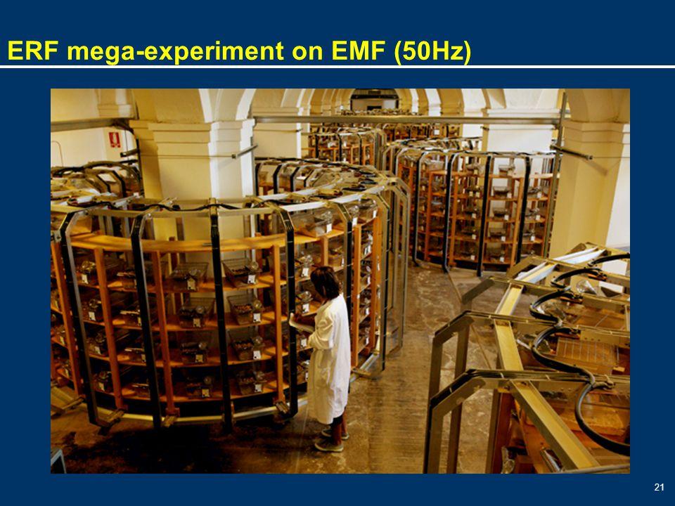 21 ERF mega-experiment on EMF (50Hz)