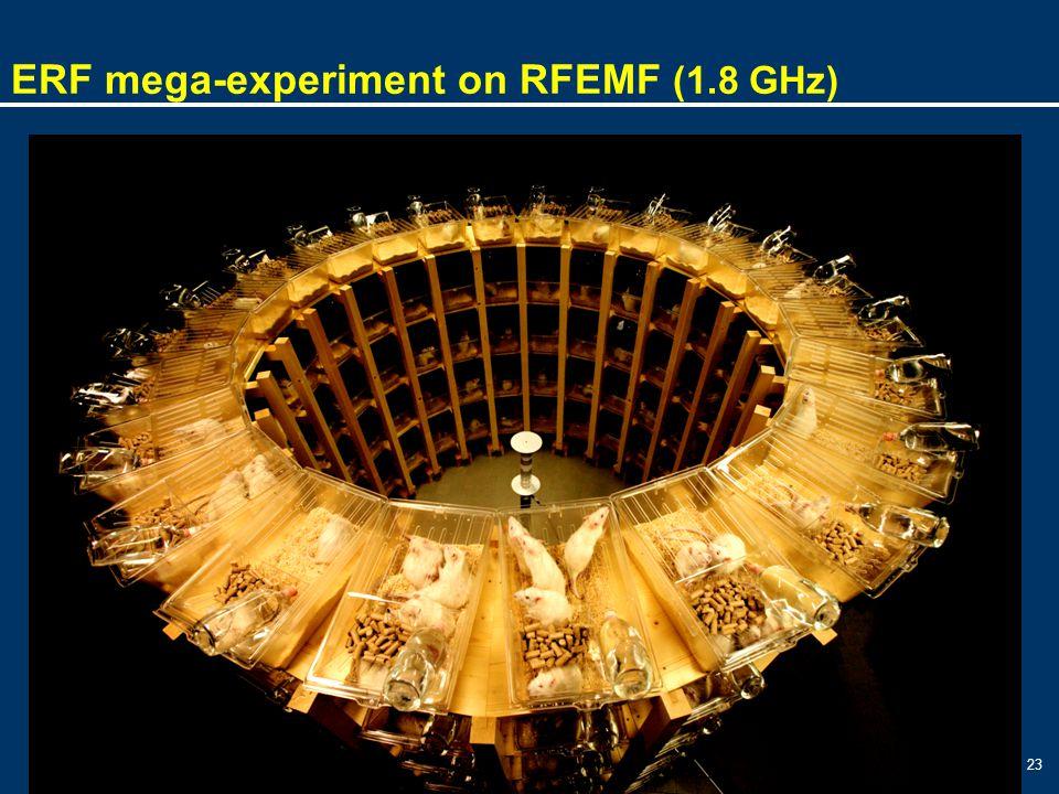 23 ERF mega-experiment on RFEMF (1.8 GHz)