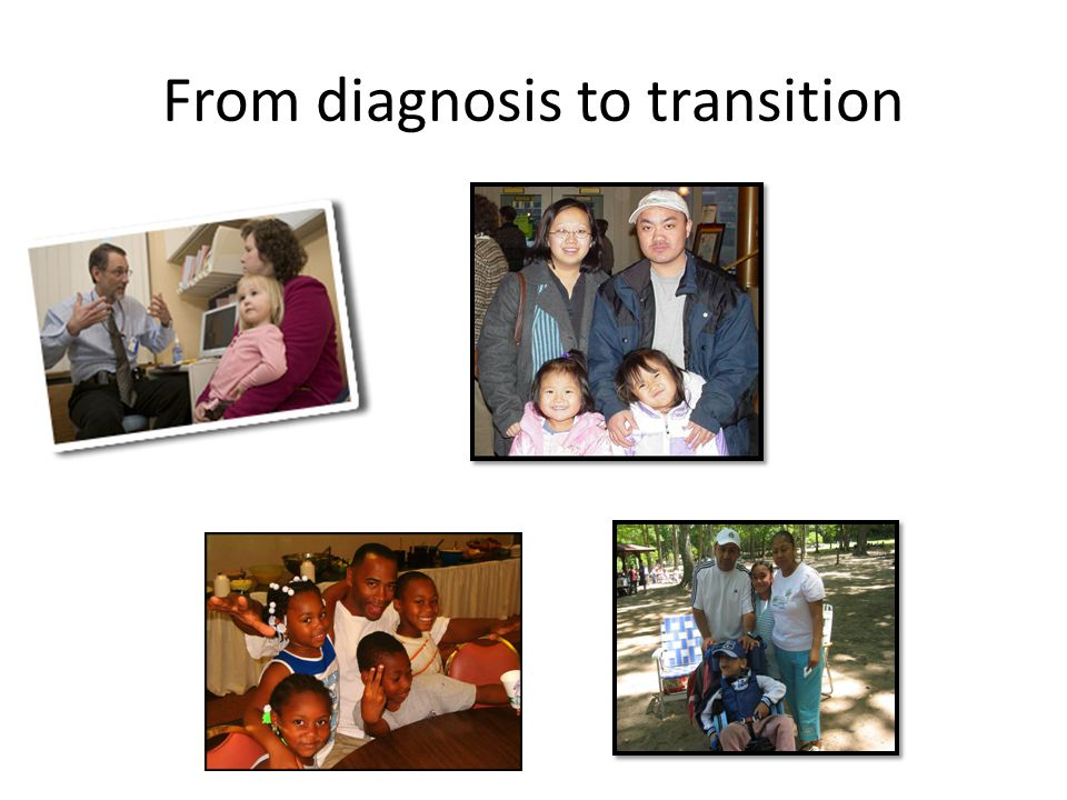 From diagnosis to transition