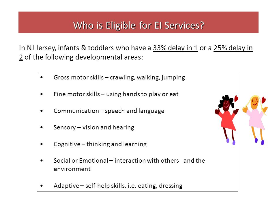 Who is Eligible for EI Services.