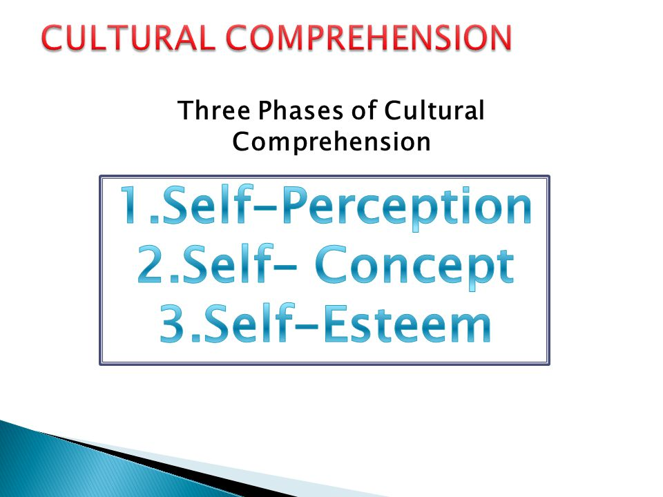 Three Phases of Cultural Comprehension