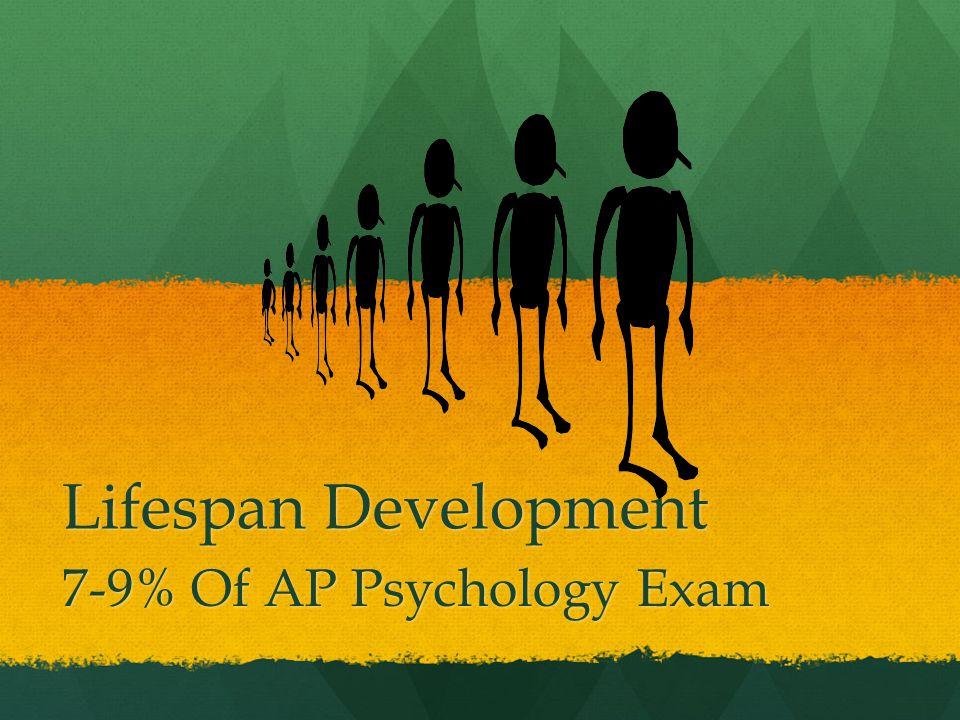 Lifespan Development 7-9% Of AP Psychology Exam