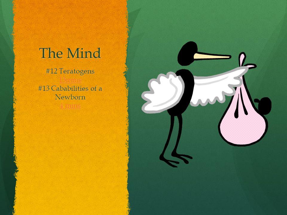 The Mind #12 Teratogens 13mins #13 Cababilities of a Newborn 4 mins 4 mins