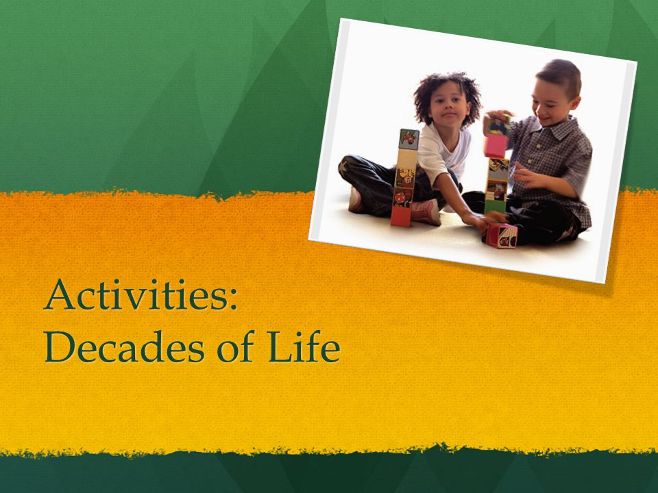 Activities: Decades of Life