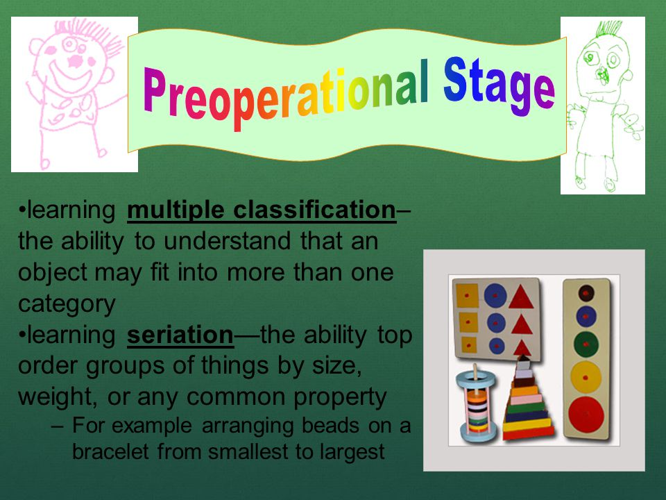 learning multiple classification– the ability to understand that an object may fit into more than one category learning seriation—the ability top orde