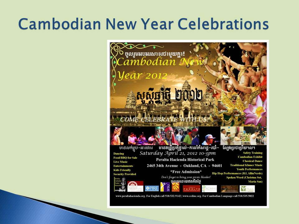 Cambodian New Year Celebrations