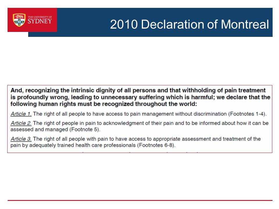 2010 Declaration of Montreal