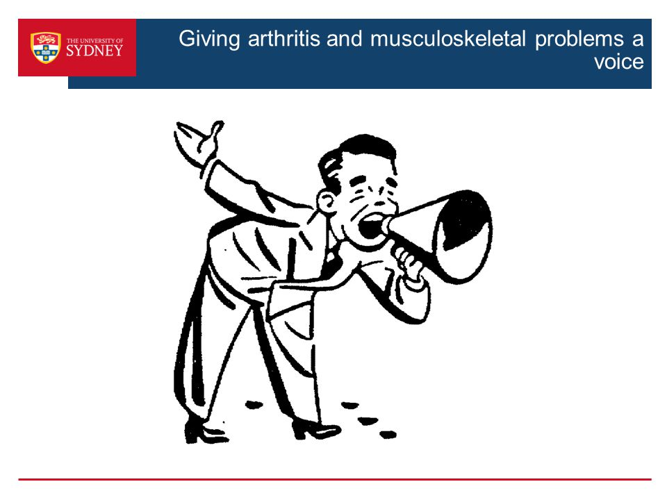 Giving arthritis and musculoskeletal problems a voice