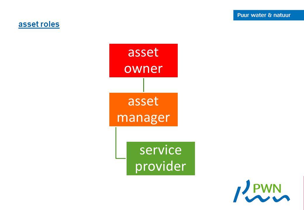 asset roles asset owner asset manager service provider