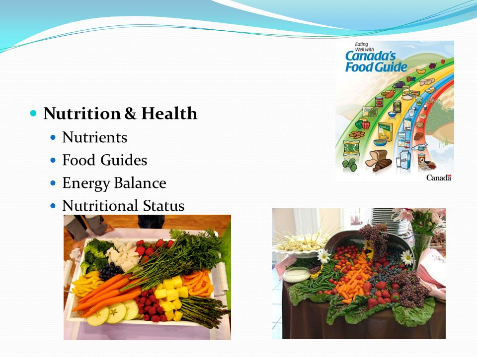 Nutrition & Health Nutrients Food Guides Energy Balance Nutritional Status