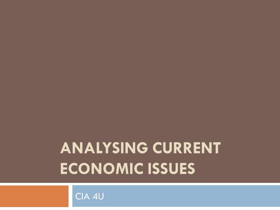 ANALYSING CURRENT ECONOMIC ISSUES CIA 4U