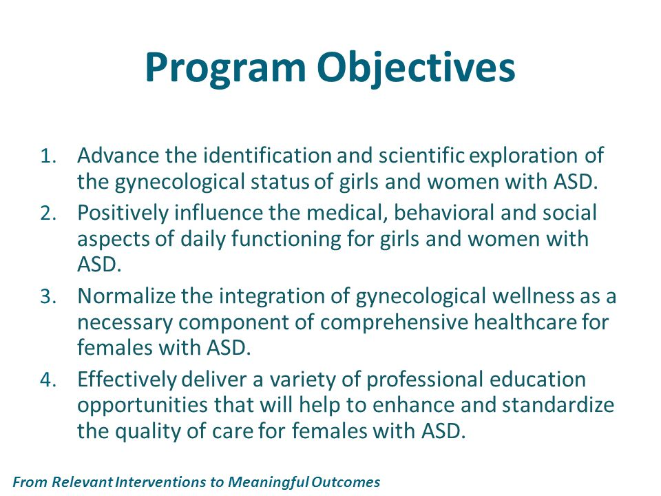 Program Objectives 1.