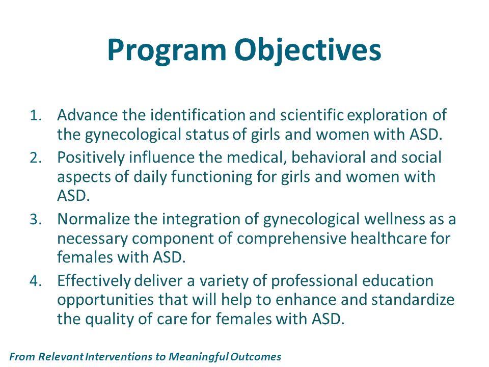 Why a specialized program.