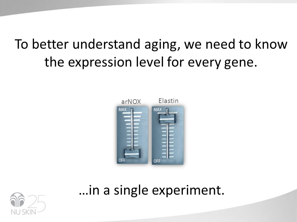 To better understand aging, we need to know the expression level for every gene.