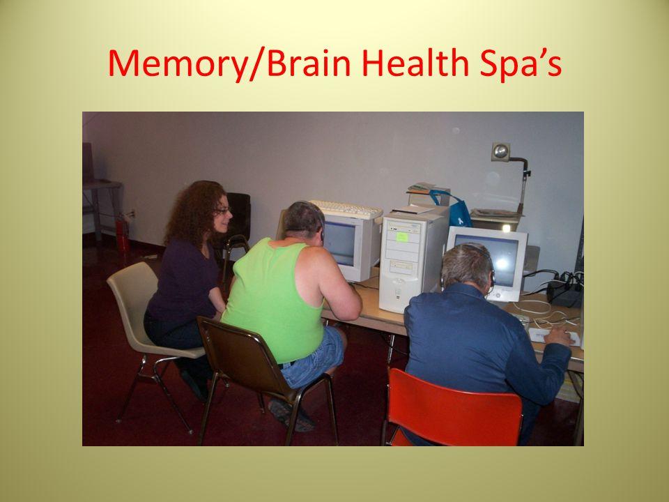 Memory/Brain Health Spa's