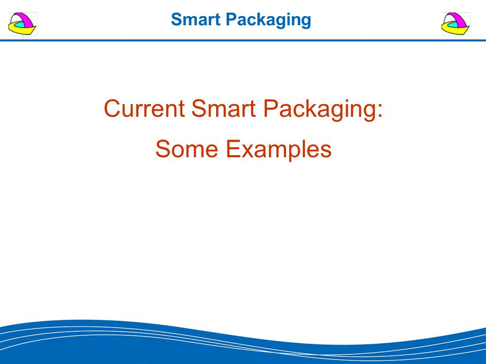 Smart Packaging Current Smart Packaging: Some Examples