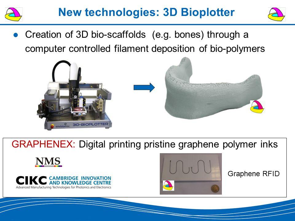 New technologies: 3D Bioplotter Creation of 3D bio-scaffolds (e.g.