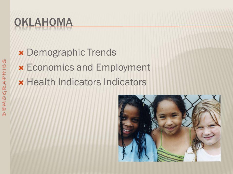  Demographic Trends  Economics and Employment  Health Indicators Indicators